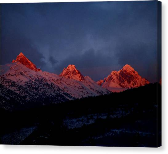 West Side Teton Sunset Canvas Print