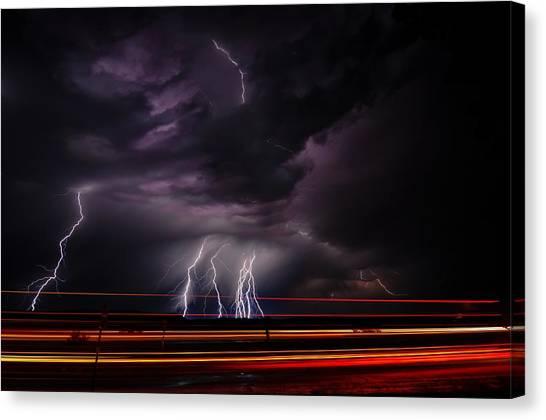 West Texas Lightning Storm Canvas Print
