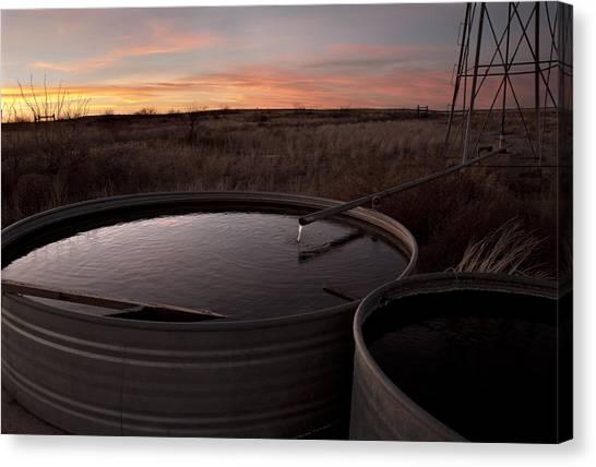 West Texas Plains Sunset Canvas Print