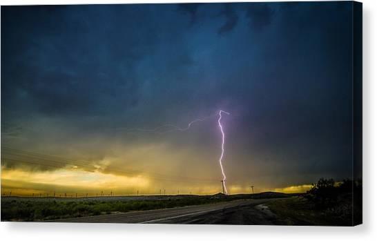 West Texas Thunderstorm Canvas Print