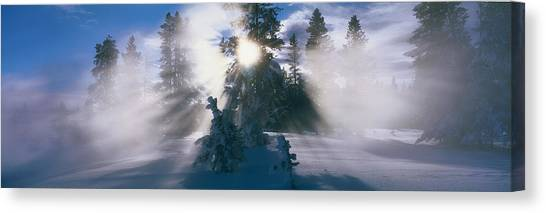 Wy Canvas Print - West Thumb Geyser Basin Yellowstone by Panoramic Images