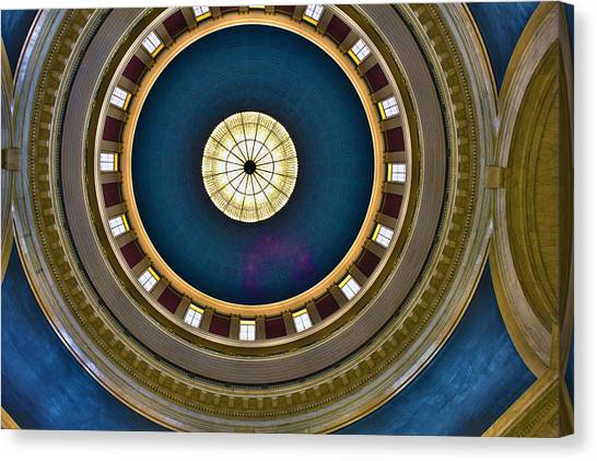 West Virginia State Capital Dome Hdr Canvas Print