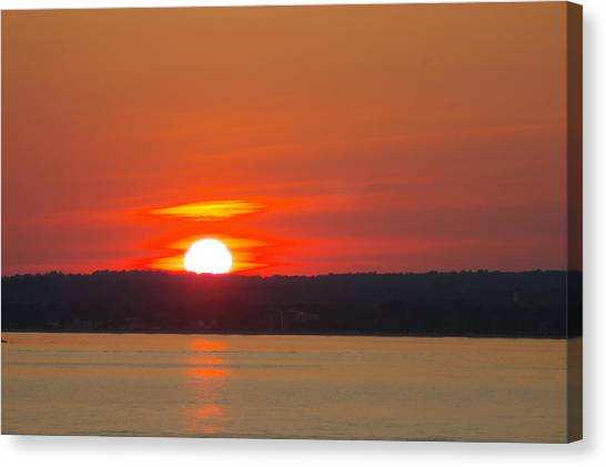 Westbrook Summer Sunset Canvas Print by Marjorie Tietjen