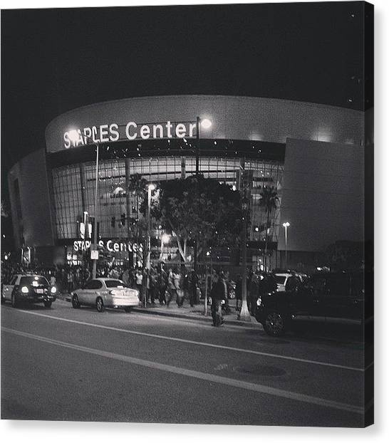 La Clippers Canvas Print - Staples Center by Cesar Ochoa