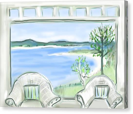 Western Beach Prouts Neck Maine Canvas Print by Jean Pacheco Ravinski
