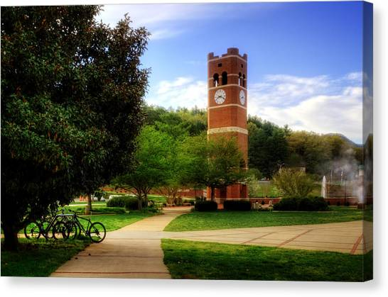 Western Carolina University Alumni Tower Canvas Print