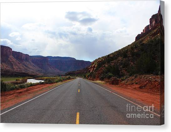 Western Colorado Drive Canvas Print