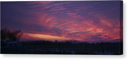 Western Evening Wide Open Canvas Print