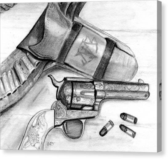 Western Guns Canvas Print