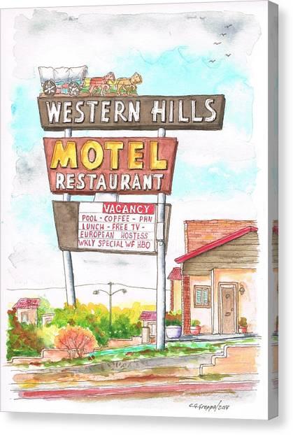 Western Hills Motel In Route 66 Flagstaff - Arizona Canvas Print