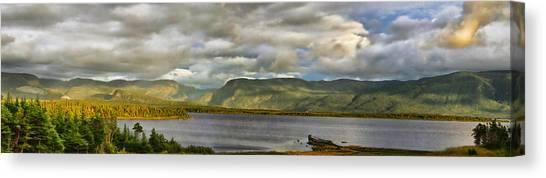 Western Newfoundland Panorma Canvas Print by Steve Hurt