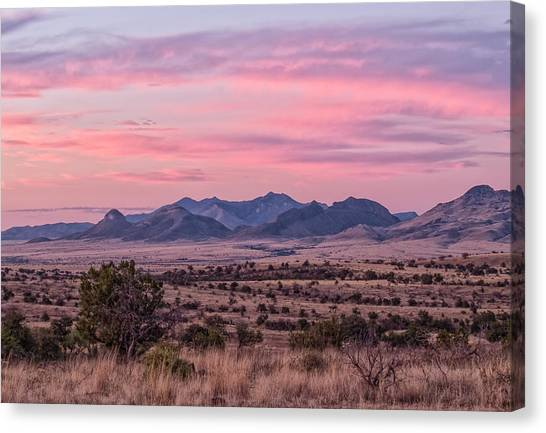 Western Twilight Canvas Print