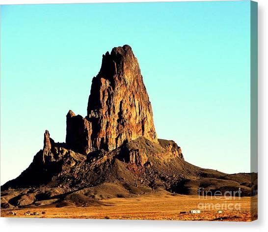 Western Usa Butte Canvas Print by John Potts
