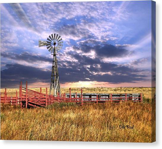 Western Windmill Canvas Print by Dale Paul