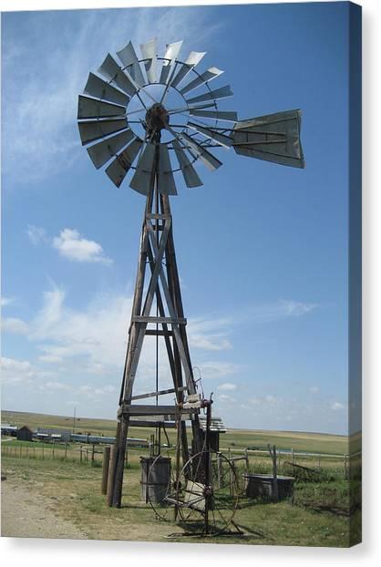 Western Windmill Canvas Print