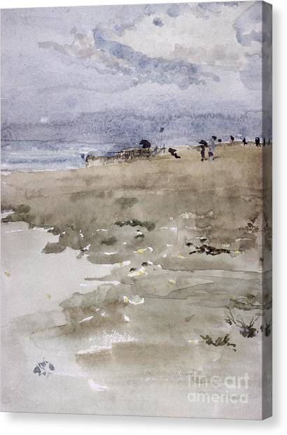 People On Beach Canvas Print - Westgate by James Abbott McNeill Whistler