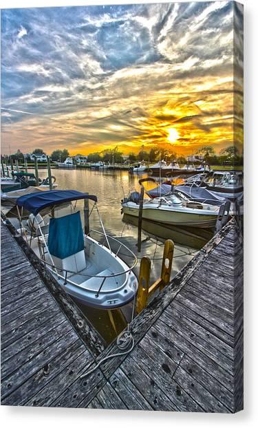 Westhampton Beach Marina Sunset Canvas Print