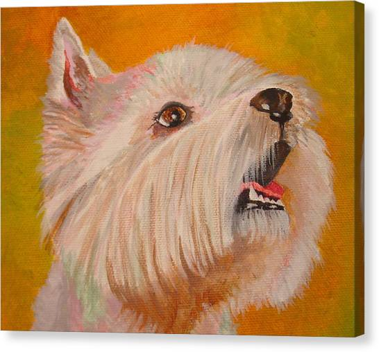 Westie Portrait Canvas Print