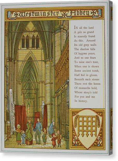 Westminster Abbey Canvas Print - Westminster Abbey by British Library