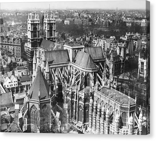 Westminster Abbey Canvas Print - Westminster Abbey In London by Underwood Archives