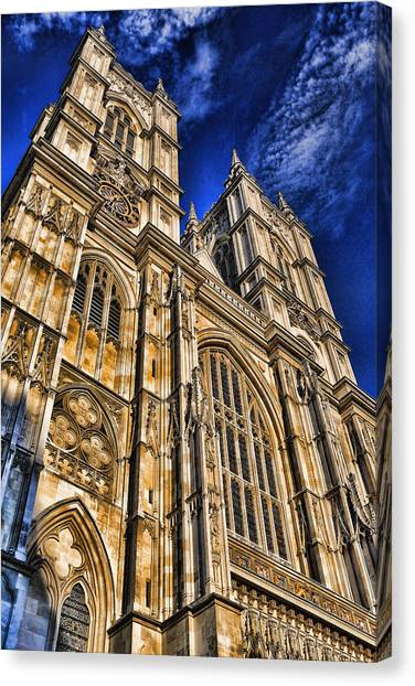 Westminster Abbey Canvas Print - Westminster Abbey West Front by Stephen Stookey