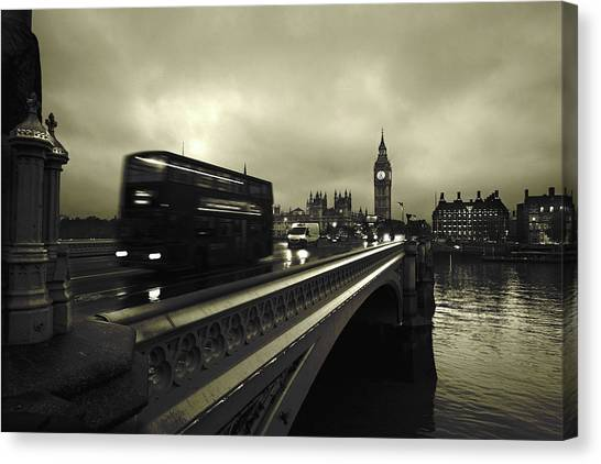 Big Ben Canvas Print - Westminster Bridge by Scott Lanphere