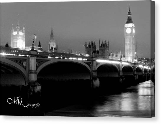 Parliament Canvas Print - Westminster Monochrome by Matt Mayer