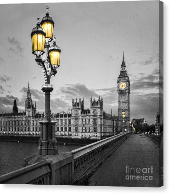 Bridge Canvas Print - Westminster Morning by Colin and Linda McKie