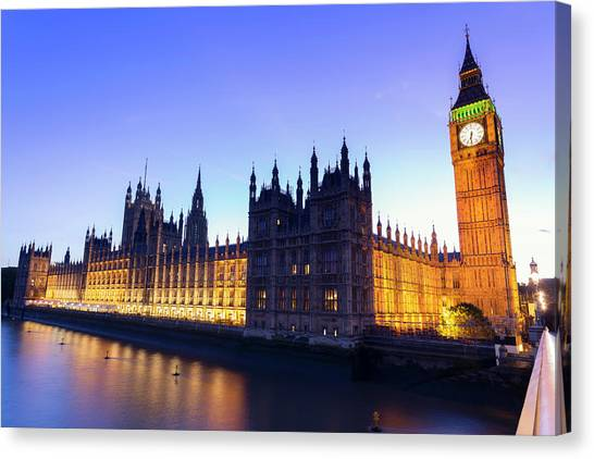 Westminster Palace Canvas Print by  Ultraforma