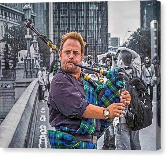 Westminster Piper Canvas Print