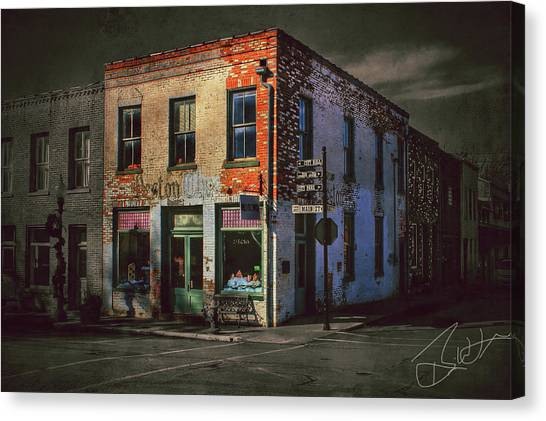 Street Scenes Canvas Print - Weston Chronicle Ghost by Brian Lea