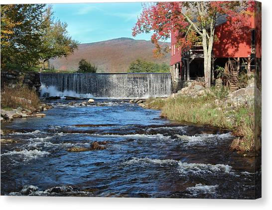 Weston Mill And River Canvas Print