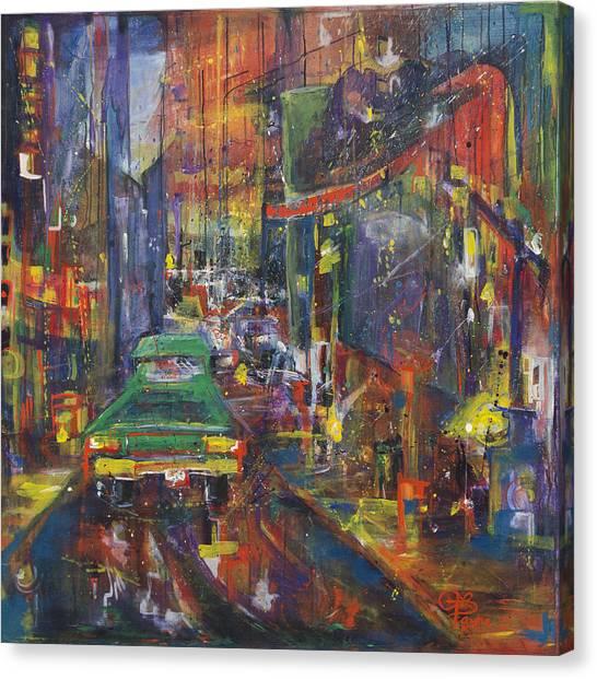 Wet China Lights Canvas Print
