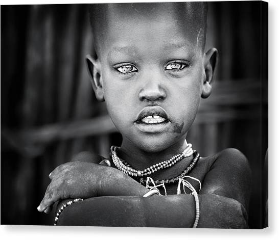 Necklace Canvas Print - Wet Eyes by Izidor Gasperlin