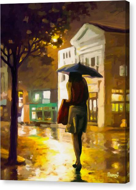 Wet Night Canvas Print