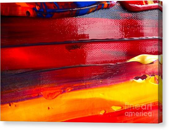 Wet Paint 123 Canvas Print