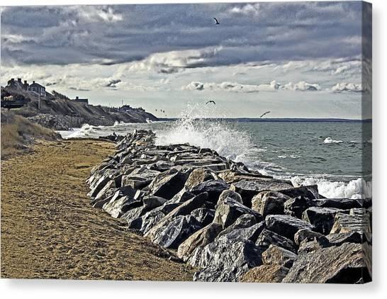 Wet Rock Walk  Canvas Print