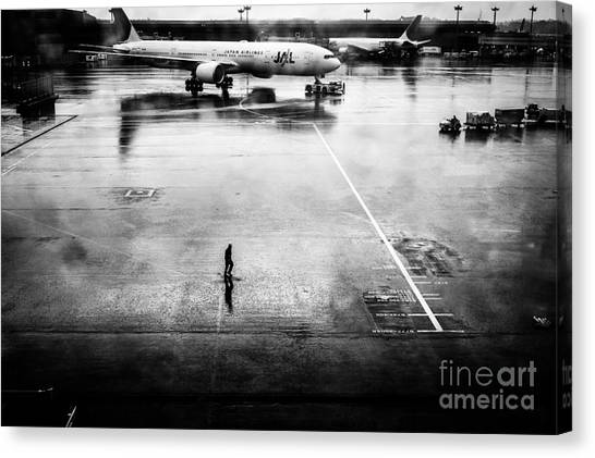 Wet Tarmac Canvas Print