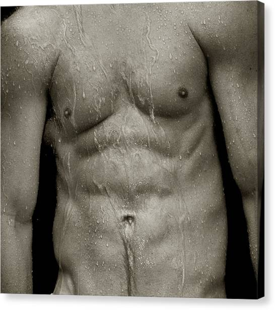 Wet Torso Canvas Print