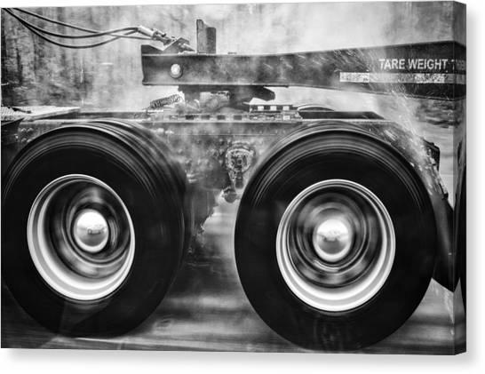 Wet Wheels Canvas Print