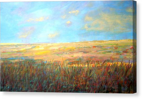 Wetlands/ As The Crow Flies Canvas Print by Marilyn Hurst