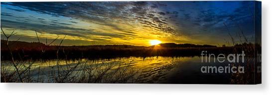 Wetlands Sunset Canvas Print