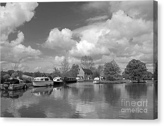 Wey Canal Ripley Surrey Canvas Print