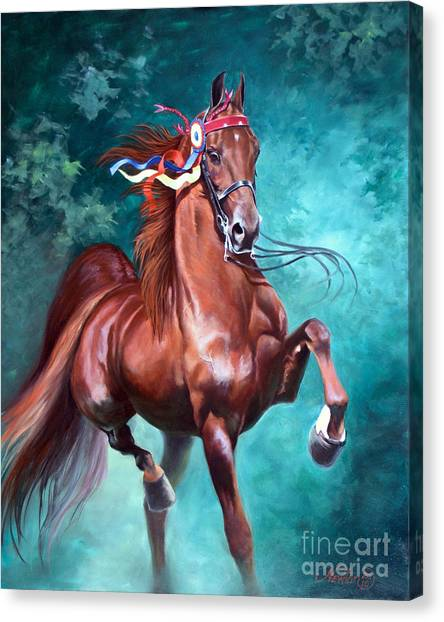 Equestrian Canvas Print - Wgc Courageous Lord by Jeanne Newton Schoborg