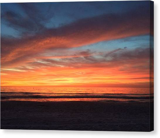 Whale Eye In Sky Sunset St.pete Beach Canvas Print