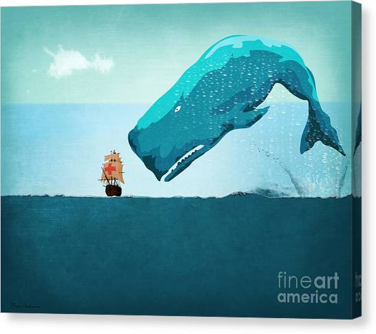 Humor Canvas Print - Whale by Mark Ashkenazi
