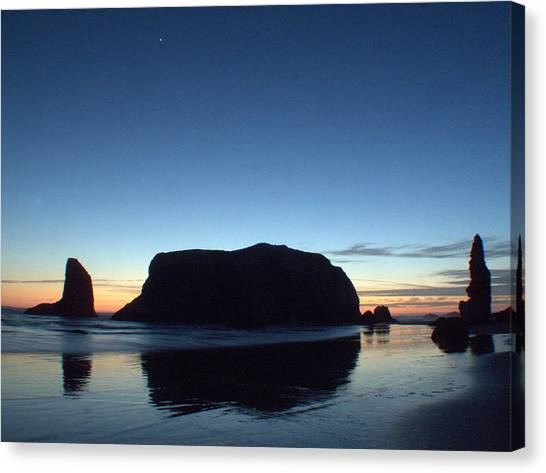 Whale Rock Canvas Print