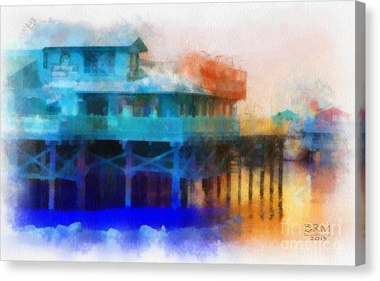 Wharf Color Canvas Print