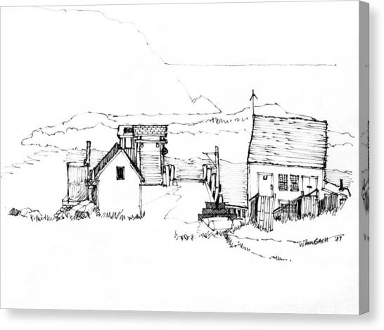 Wharf Monhegan Island 1987 Canvas Print
