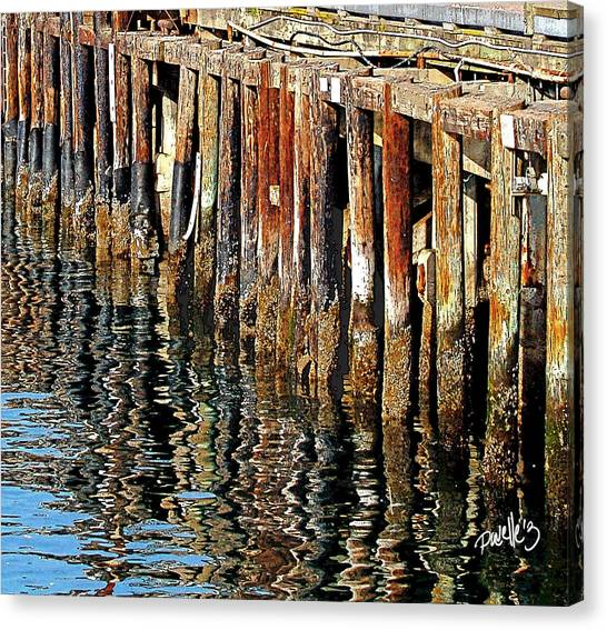 Wharf Reflections Canvas Print